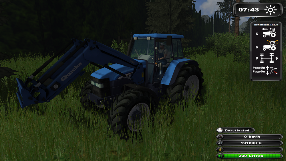 New Holland TM120 with Quicke