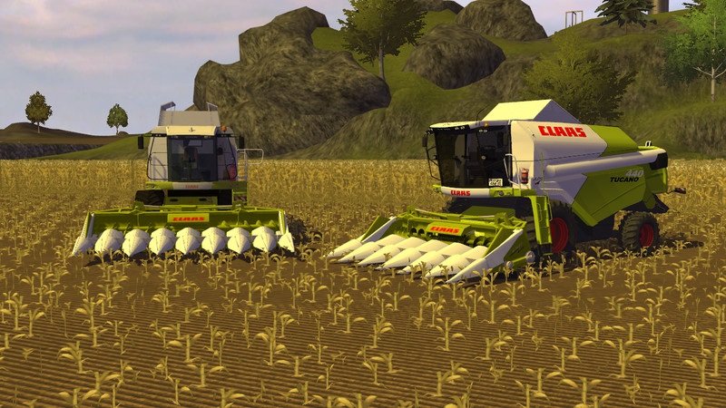 Claas Conspeed Cutters With Maize Animation V 1.1