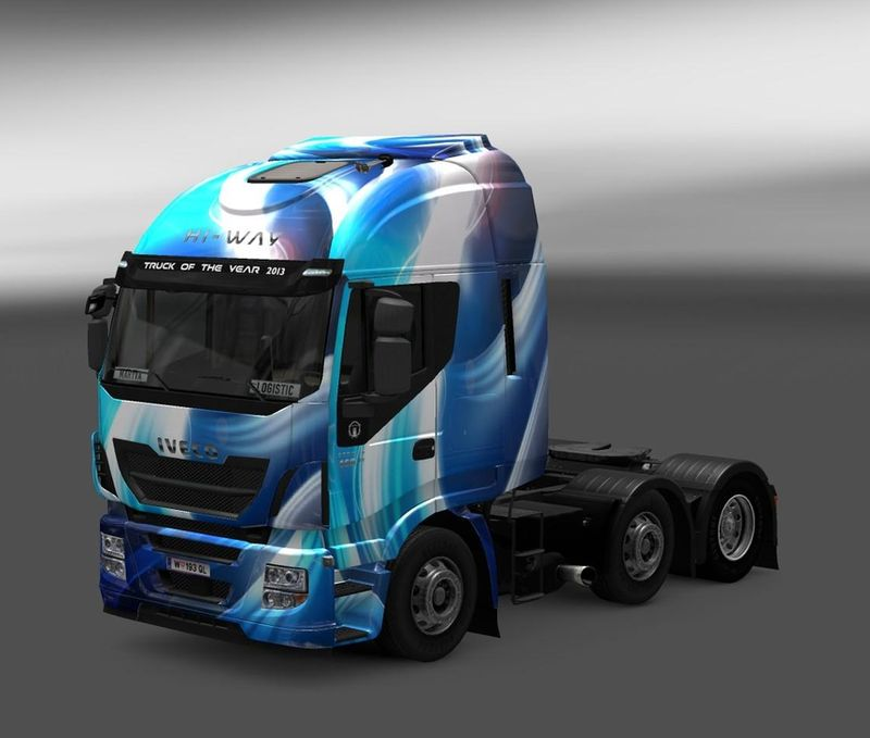 Blue Abstract Iveco Hi-Way skin v 1.0