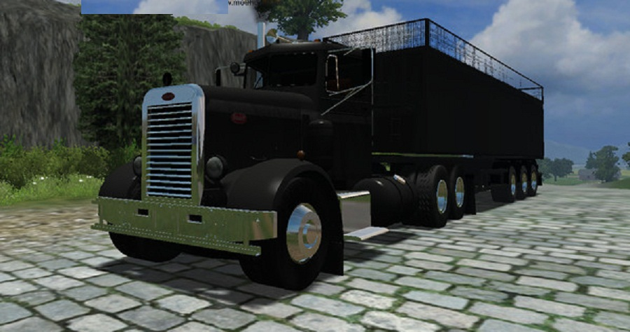 Peterbilt 281 with trailer v 3
