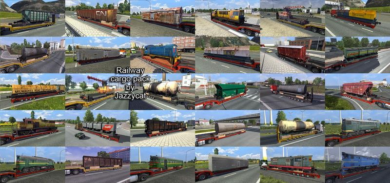 RAILWAY CARGO PACK V1.4. farm frenzy ice age. euro truck simulator map pack